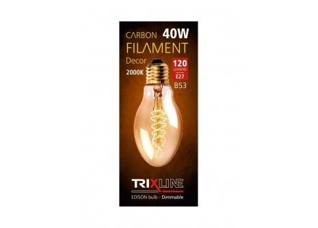 Dekorační stmívatelná žárovka Trixline B53, 40W E27