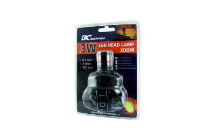 BC čelová LED svítilna 3W