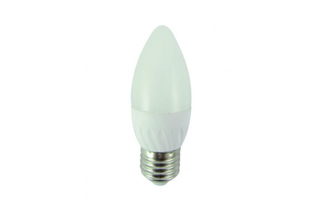 LED žárovka 6W C35 E27 studená bílá