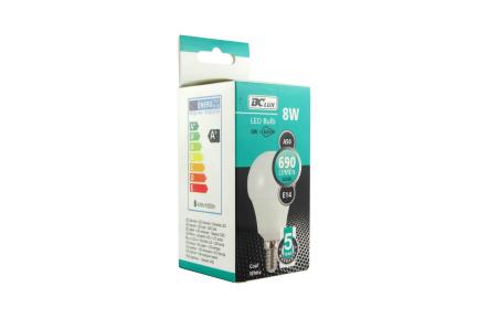 LED izzó 8W A50 E14 hideg fehér 5 év garancia