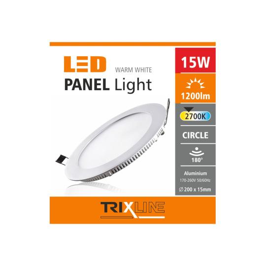 Podhledové LED svítidlo TRIXLINE – kulaté 15W