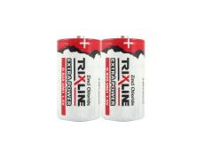 Zinkochloridový velký 1,5V monočlánek BC R20/2P TRIXLINE Extra Power