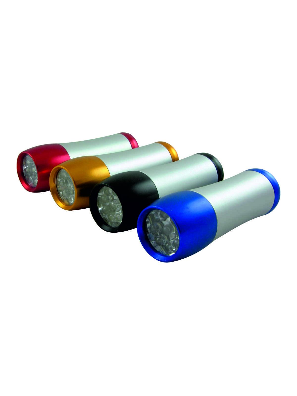 Ruční 9 LED hliníková svítilna