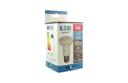 LED žárovka TRIXLINE 8W R63 E27 6500K
