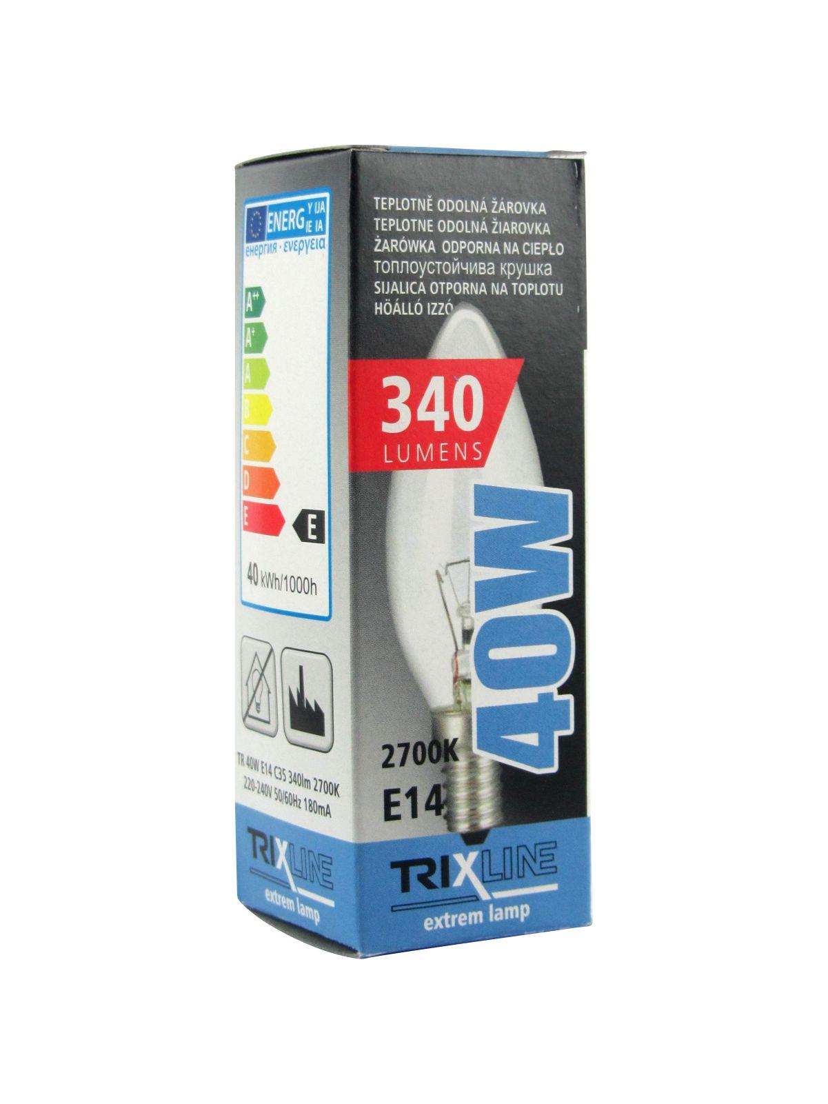 Špeciálna žiarovka BC C35 E14 teplá biela