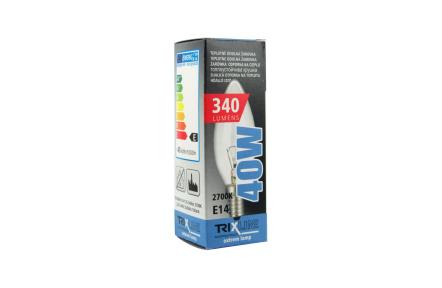 Speciální žárovka BC C35 E14 teplá bílá