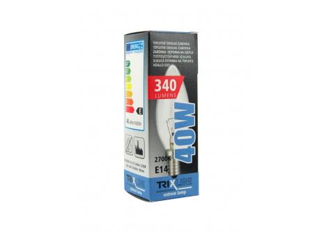 Speciální žárovka Trixline C35, 40W E14 teplá bílá