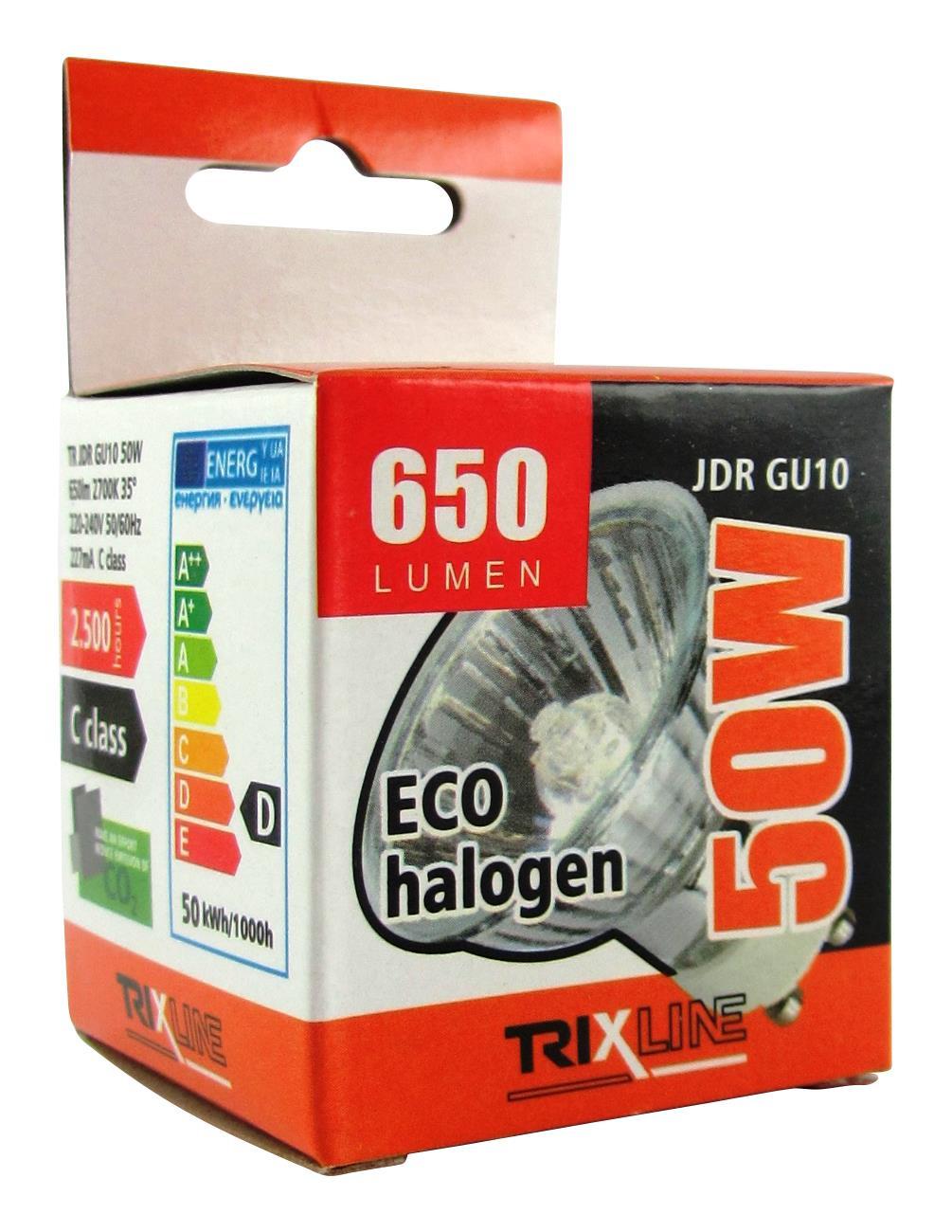Halogenová bodová žárovka BC JDR/C GU10 50W teplá bílá