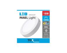 Podhľadové LED svietidlo TRIXLINE – prisadené, okrúhle  18W studená biela