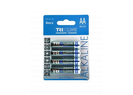 Trixline alkalická AA tužková baterie 1,5V LR6