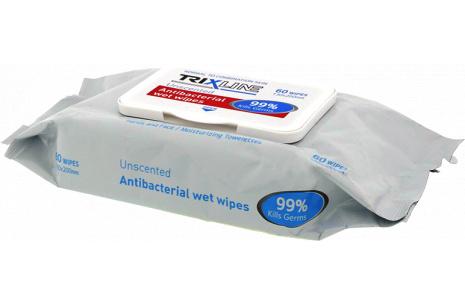 Antibakteriální ubrousky TRIXLINE 60ks TR M391