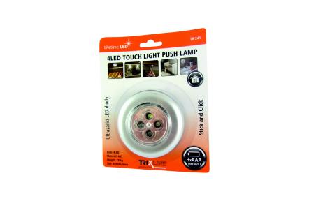 LED noční dotykové světlo TR 241, stříbrné