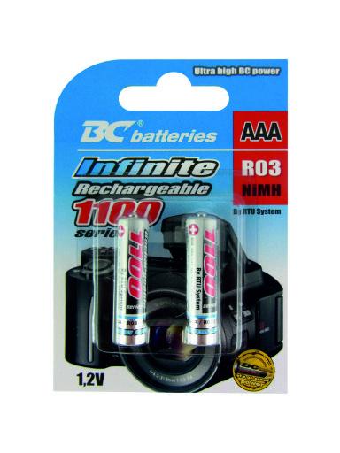 Nabíjecí 1,2V mikrotužková baterie BCR03/1100/2BP RTU Infinite