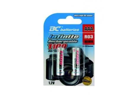 Nabíjecí mikro tužková AAA baterie BC Batteries 1,2V R03