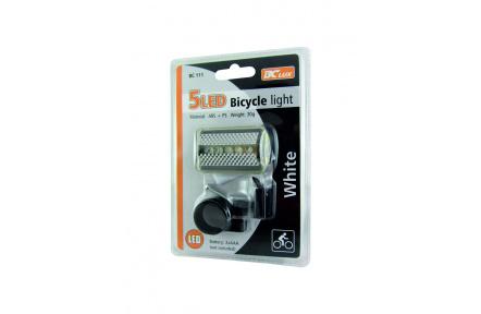 Biztonsági LED BC 111 fehér kerékpár lámpa