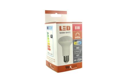 LED žárovka TRIXLINE 8W R63 E27 2700K