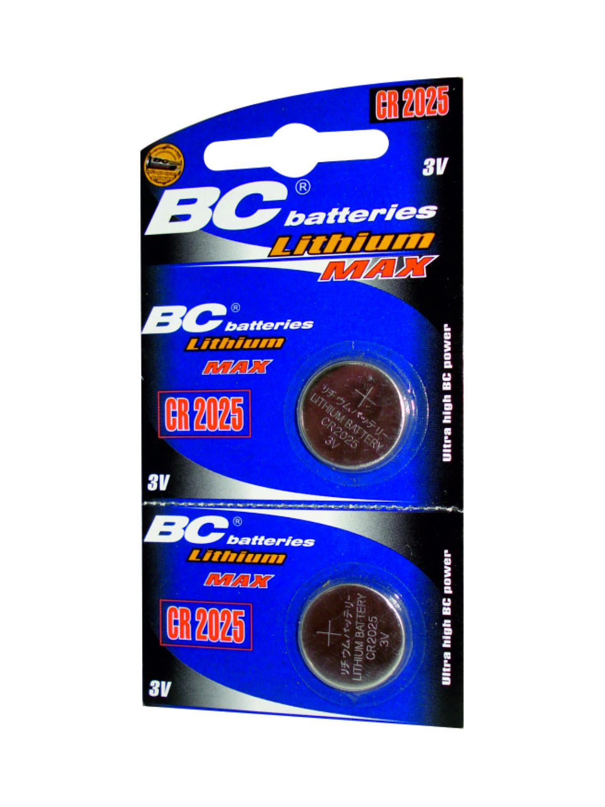 Lithium buttom 3V battery BCCR 2025