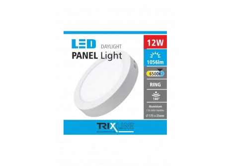 Podhledové LED svítidlo TRIXLINE – přisazené kulaté 12W denní světlo
