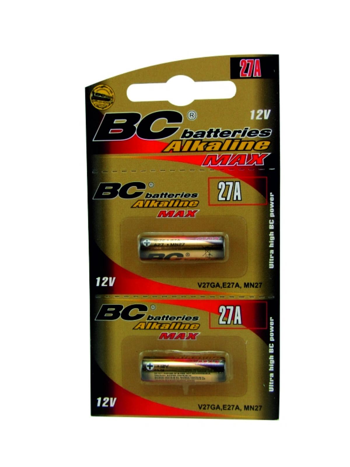 Alkalická 12V válcová baterie BCLR27A/2BP