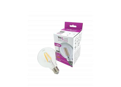 Dekorační LED žárovka FILAMENT Trixline G-95, 8W E27 teplá bílá