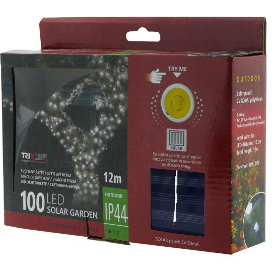 Solární vánoční LED řetěz TR 317 denní bílá