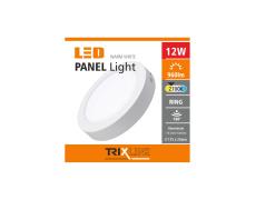 Podhledové LED svítidlo TRIXLINE – přisazené kruhové 12W teplá bílá