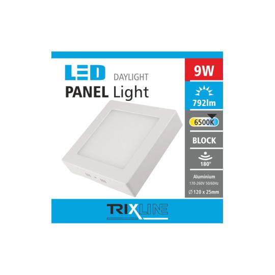 Podhledové LED svítidlo TRIXLINE – přisazené čtvercové 9W denní světlo