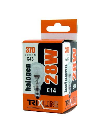 Halogénová žiarovka BC 28W E14 G45 teplá biela