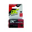 Zinkochloridová 9V baterie BC 6F22/1P