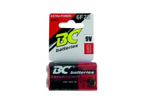 BC batteries Extra power zinkochloridová baterie 9V 6F22