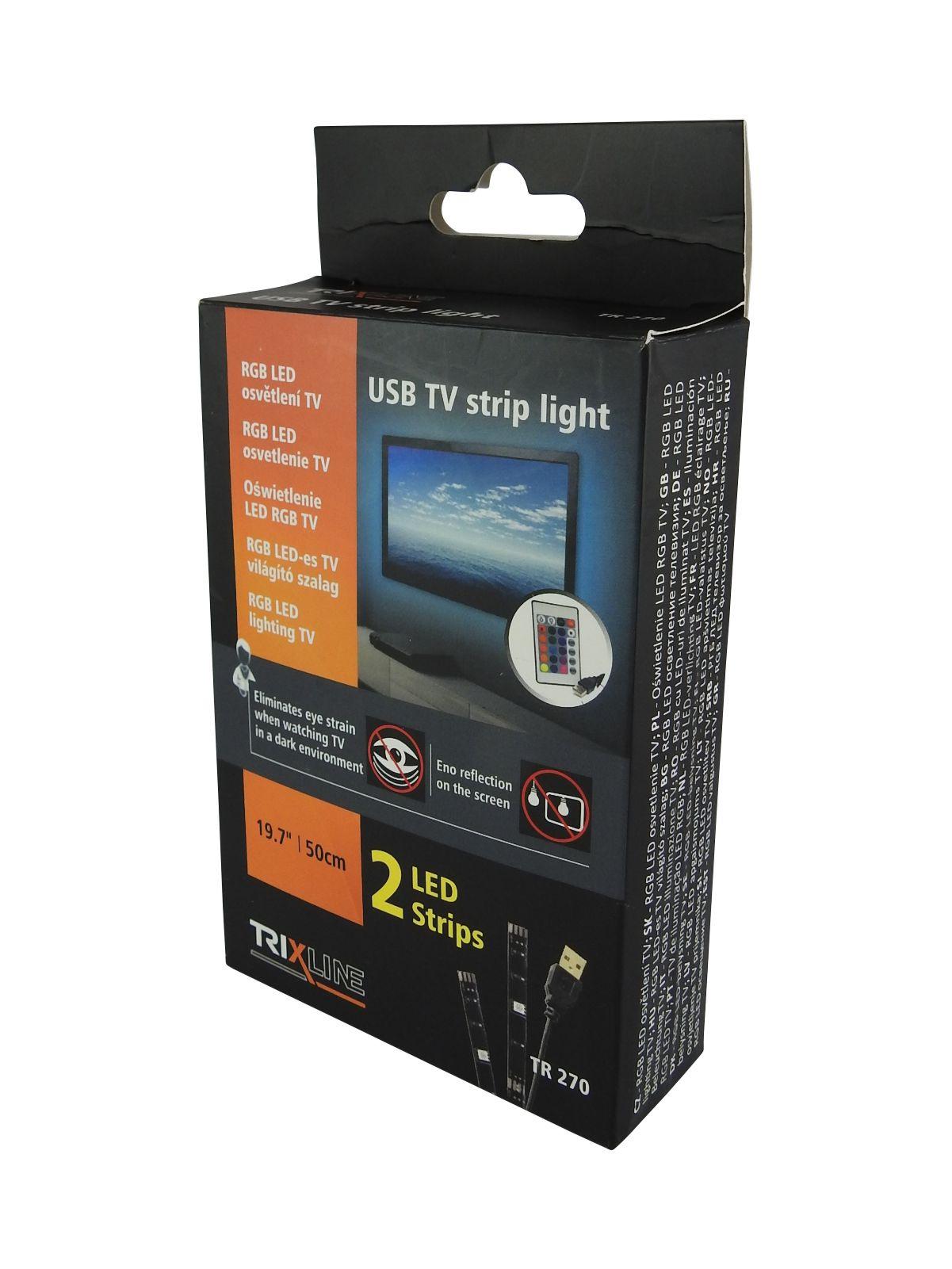 Dálkově ovladaný LED RGB pásek pro TV/PC