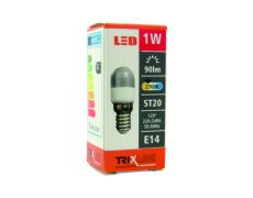 LED žiarovka BC TR 1W E14 ST20 teplá biela