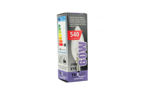 speciális izzó BC C35 E14 meleg fehér