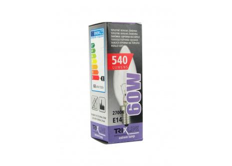 Speciální žárovka Trixline 60W, C35 E14 teplá bílá