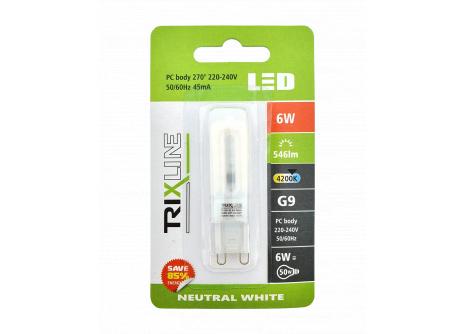 LED žárovka Trixline 6W G9 studená bílá