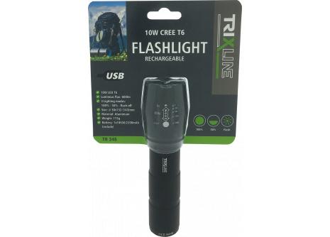 Ruční USB nabíjecí LED svítilna se zoomem TR 346
