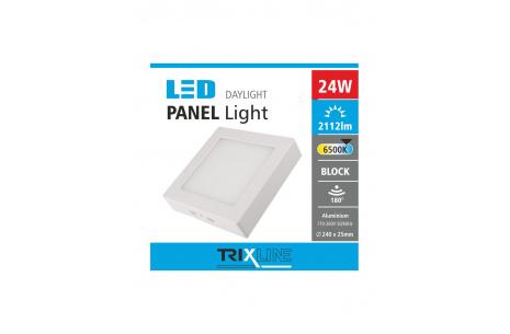 Podhledové LED svítidlo TRIXLINE – přisazené hranaté 24W denní světlo