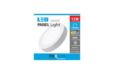 Podhledové LED svítidlo TRIXLINE – přisazené kruhové 12W denní světlo