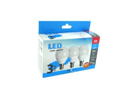 LED žárovka BC TR 6W E14 P45 denní bílá 3PACK