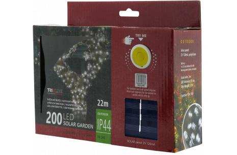 Solární vánoční LED řetěz TR 342 denní bílá