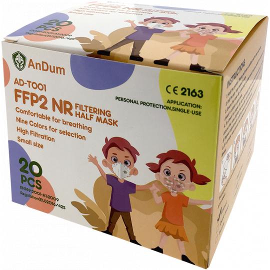 Respirátor  FFP2  AD-T001/ XS Cream-Coloured