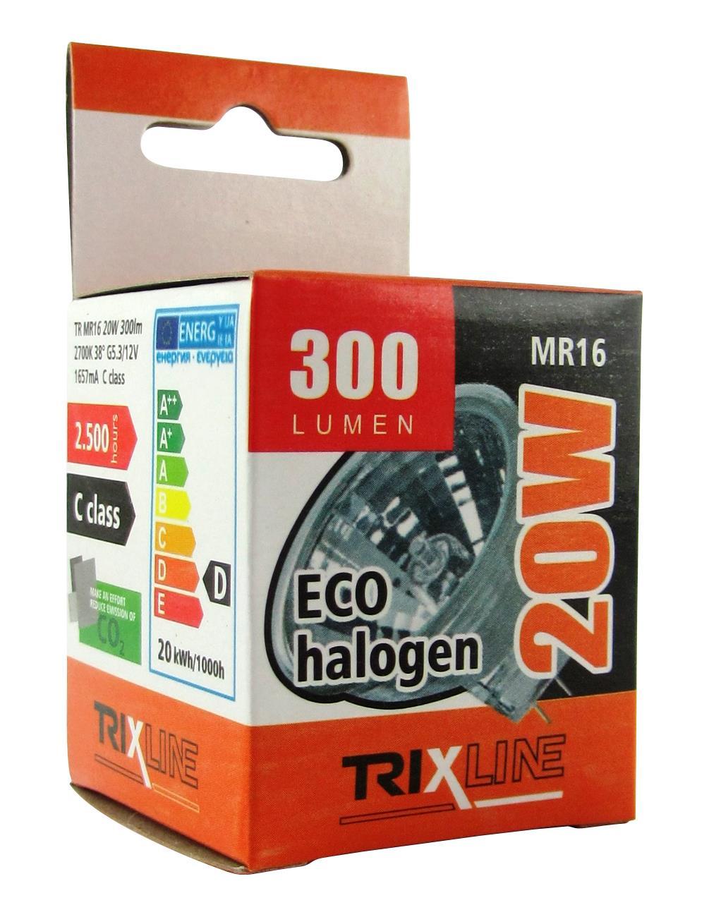 Halogenová bodová žárovka BC MR16/C 20W 12V teplá bílá